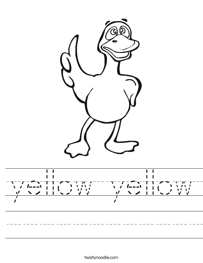 Yellow Worksheet Twisty Noodle