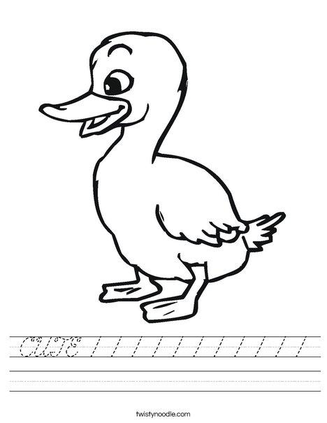 Duckling Worksheet