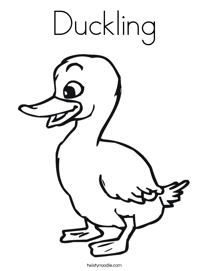 Duckling drawing images galleries for Coloring pages of ducks