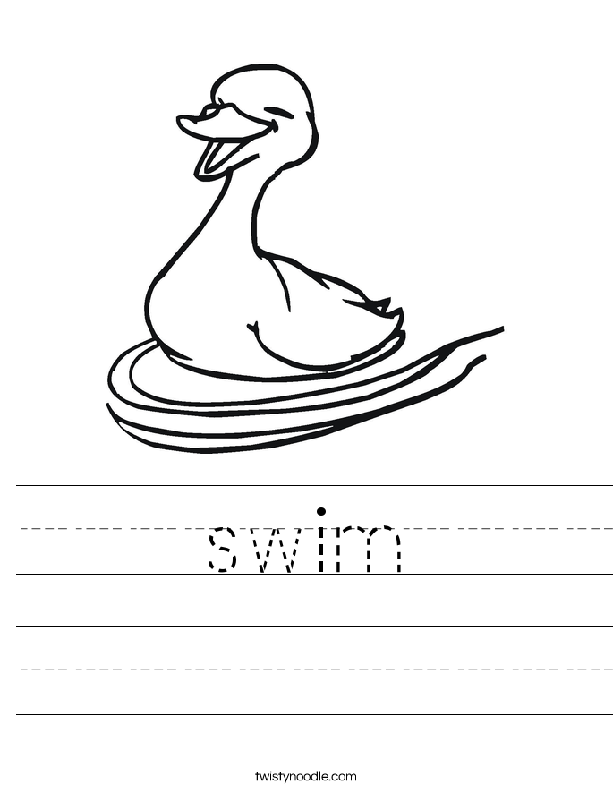 swim Worksheet