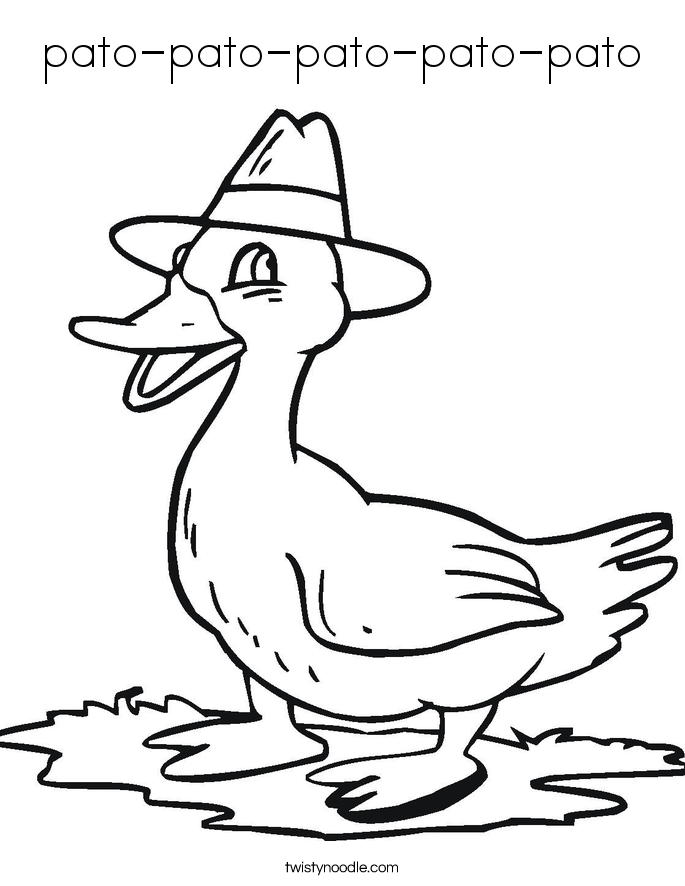 Pato Coloring Page Coloring Coloring Pages