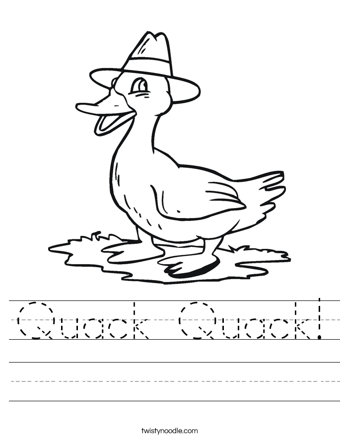 Quack Quack! Worksheet