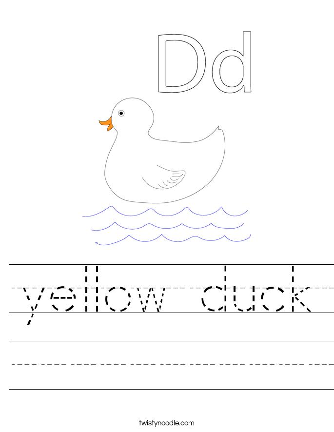 yellow duck Worksheet