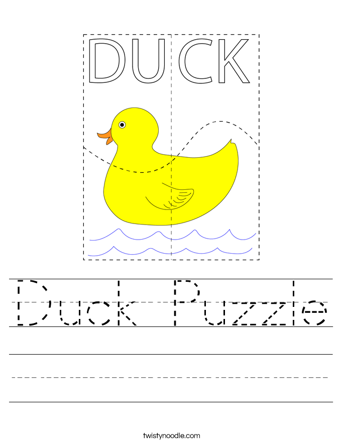 Duck Puzzle Worksheet