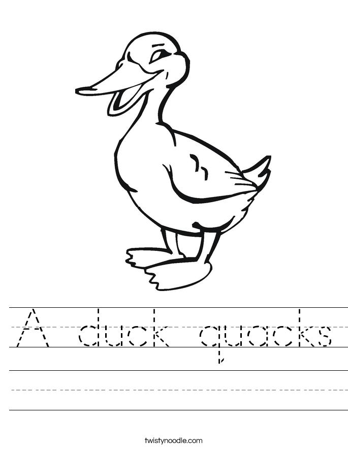 A duck quacks Worksheet