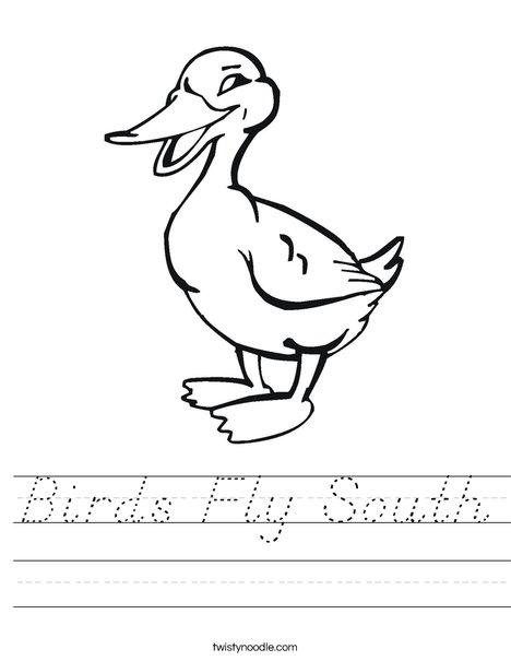 Quacking Duck Worksheet