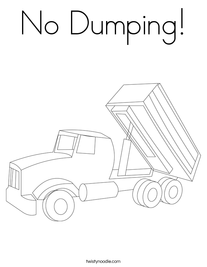 No Dumping! Coloring Page