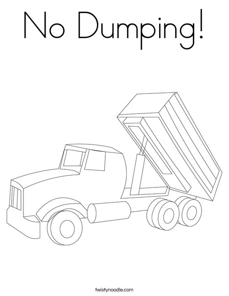 Tipper Lorry Coloring Page