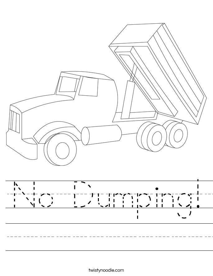 No Dumping! Worksheet