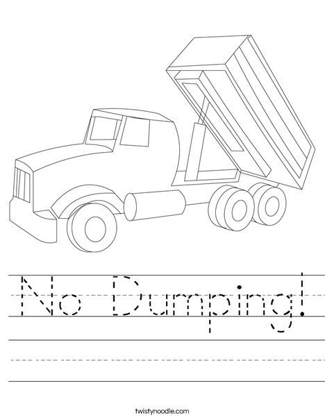 Tipper Lorry Worksheet