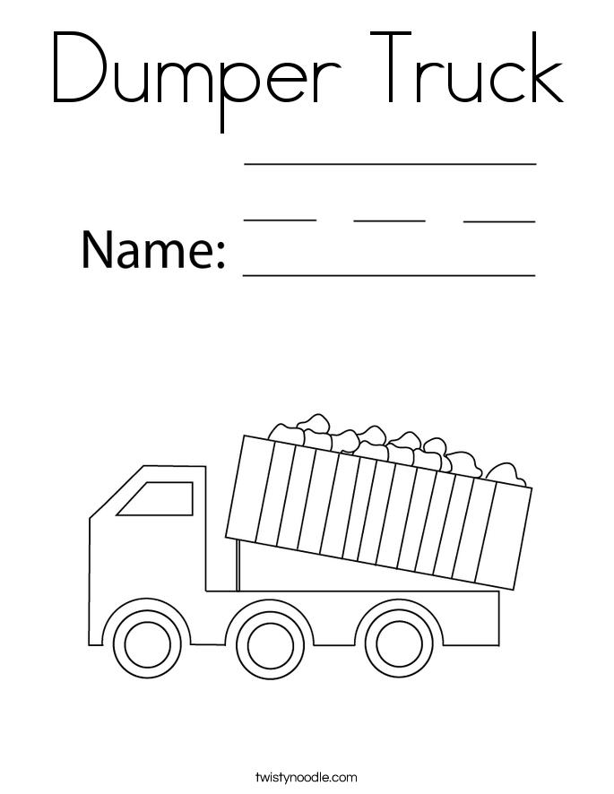 Dumper Truck Coloring Page