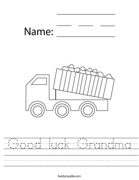 Dumper Truck Worksheet