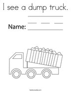 I see a dump truck Coloring Page