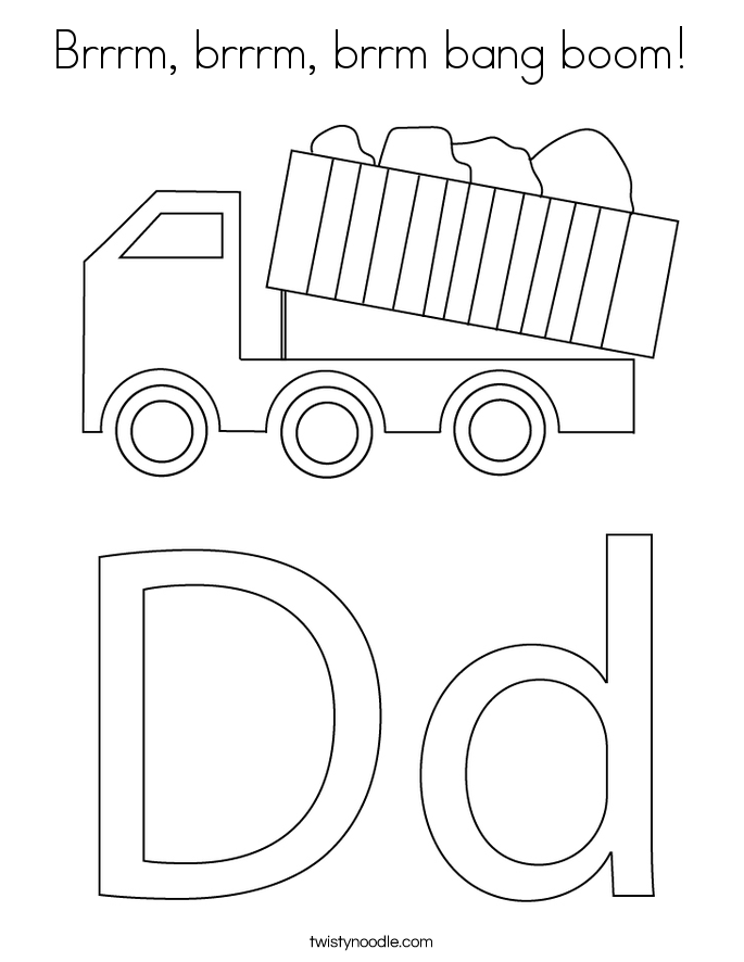 Brrrm, brrrm, brrm bang boom! Coloring Page