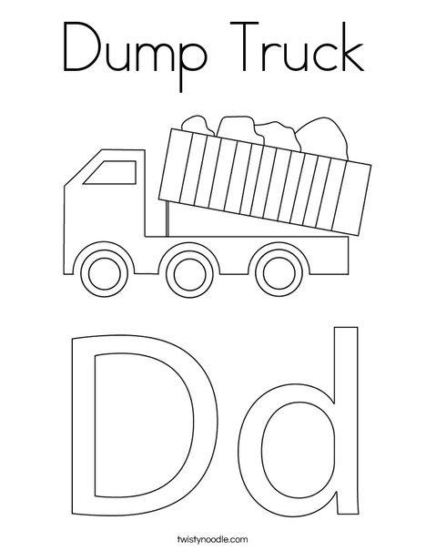 Dump Truck Coloring Page Twisty