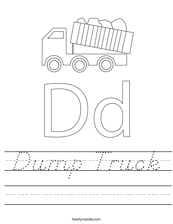 Dump Truck Worksheet
