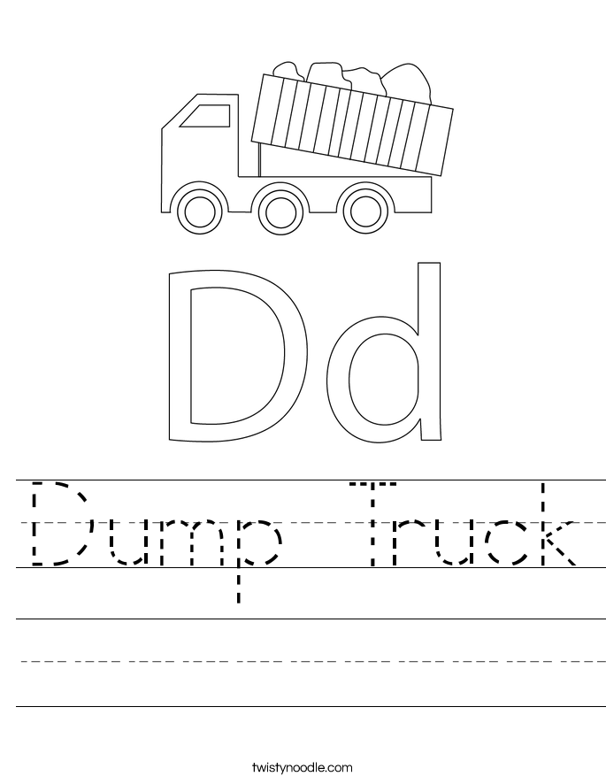 Dump Truck Worksheet