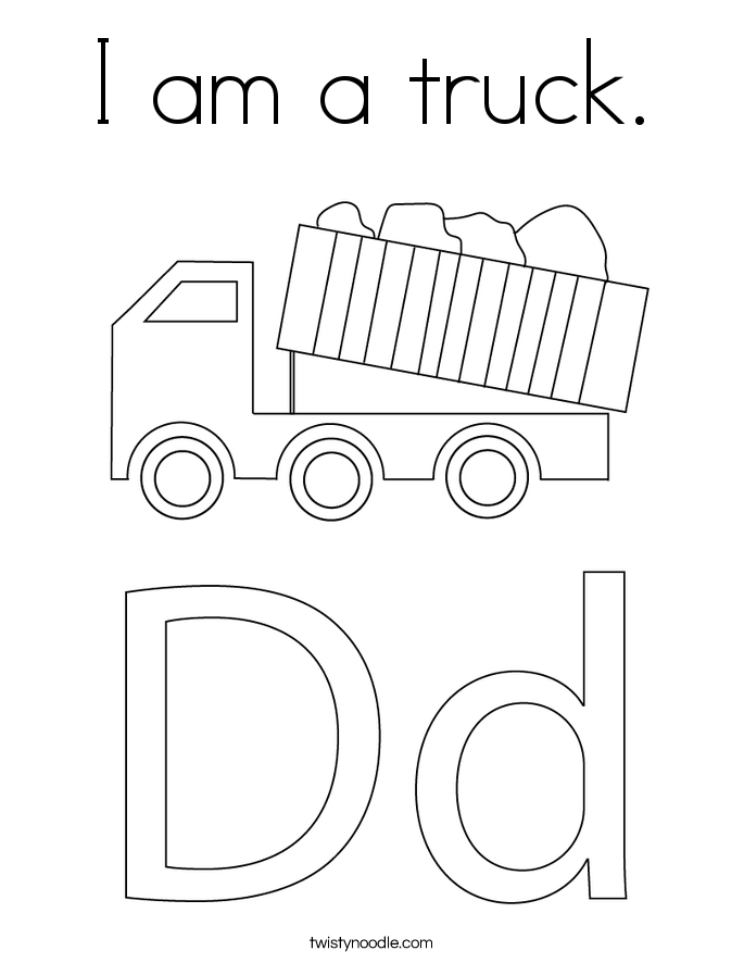 I am a truck. Coloring Page