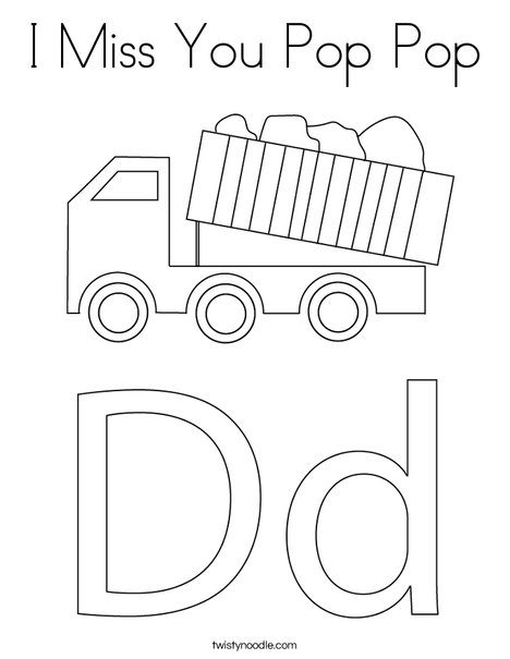 Dump Truck with Lift Coloring Page