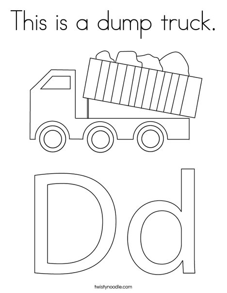This Is A Dump Truck Coloring Page Twisty Noodle