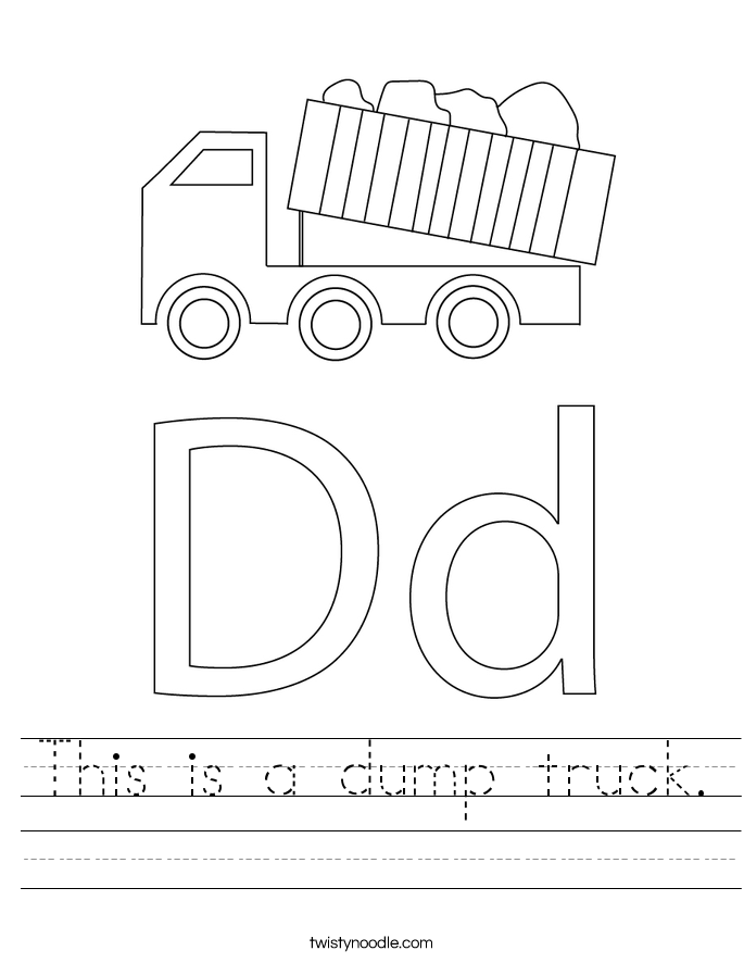 This is a dump truck. Worksheet
