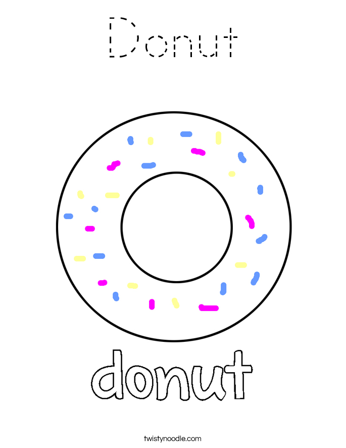 Donuts Colouring Pages Sketch Coloring Page