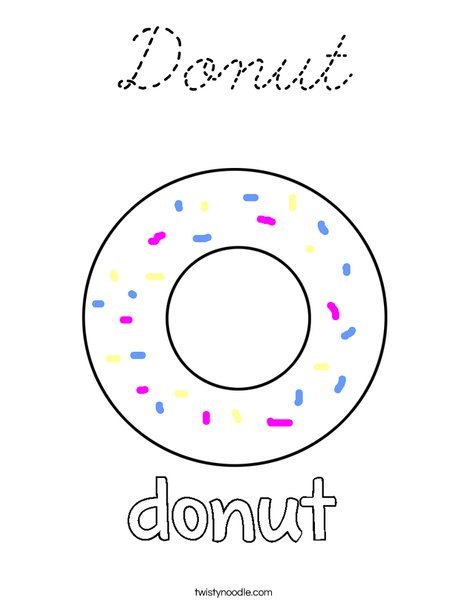 Dunut Coloring Page