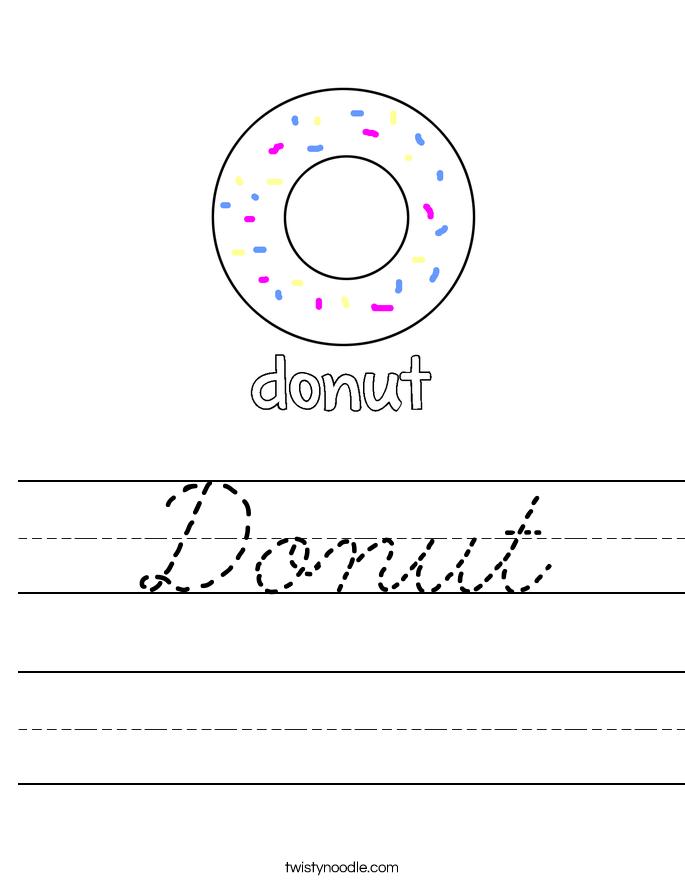 Donut Worksheet