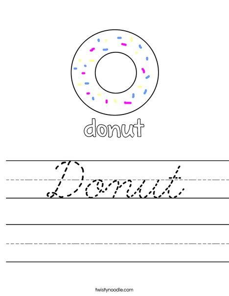Dunut Worksheet