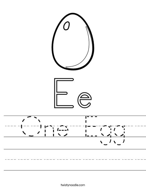 E is for Egg Worksheet
