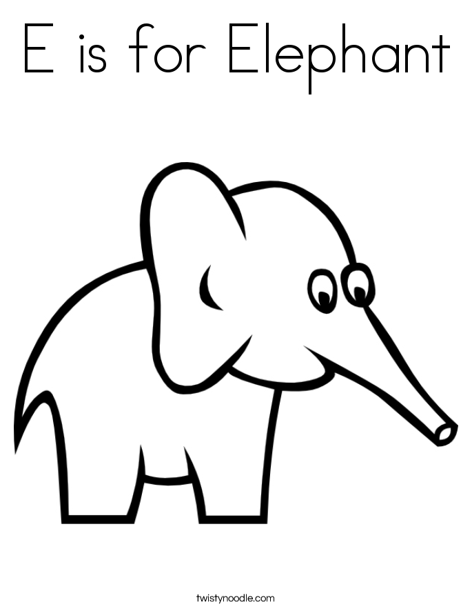 e elephant coloring pages - photo#3