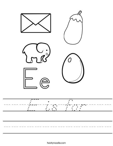 E is for Worksheet