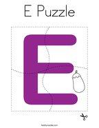 E Puzzle Coloring Page