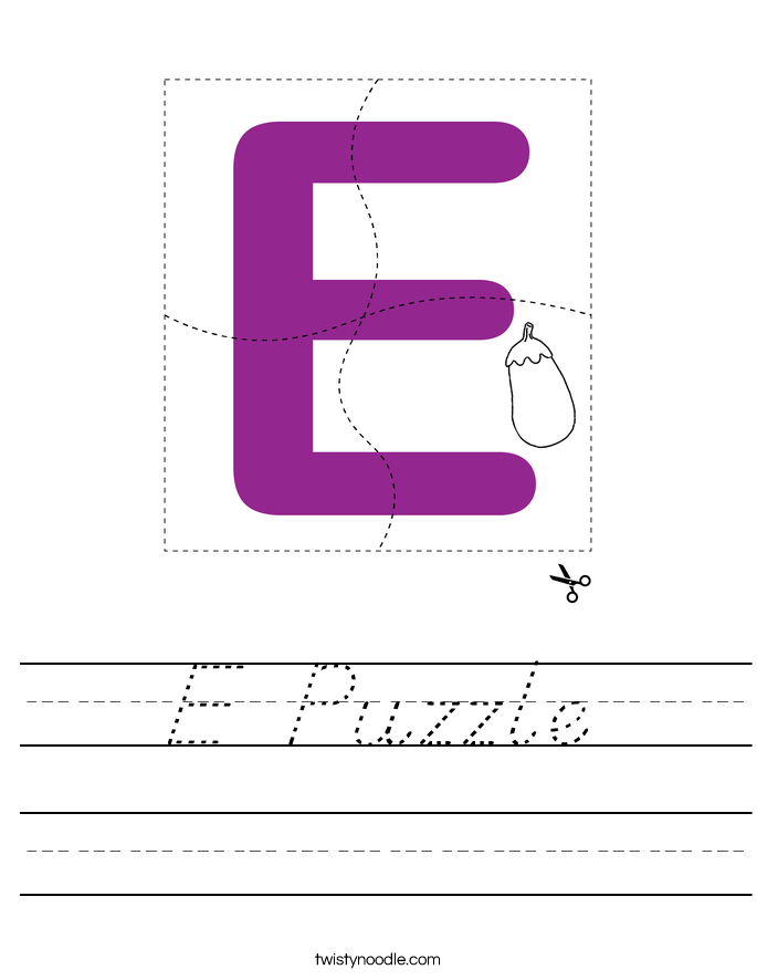E Puzzle Worksheet