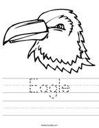 Eagle Handwriting Sheet