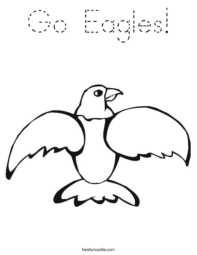 Go Eagles! Coloring Page