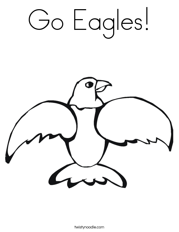 Go Eagles Coloring Page