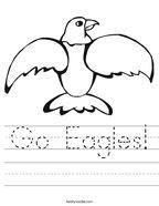 Go Eagles Handwriting Sheet