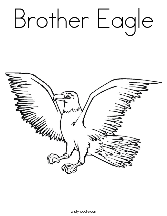 Brother Eagle Coloring Page