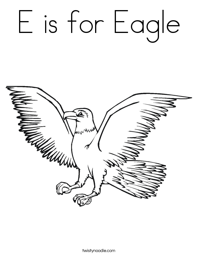 Eagle Coloring Page - Twisty Noodle