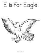 E is for Eagle Coloring Page