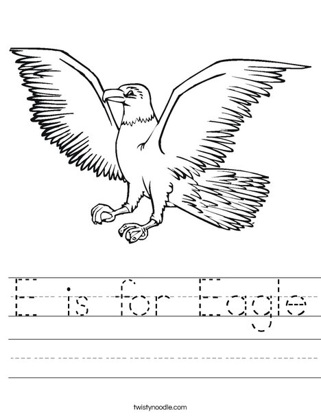 Eagle Flying Worksheet