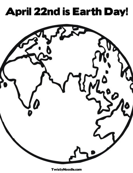 earth day coloring pages kindergarten. Earth Coloring Page