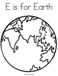 E is for EarthColoring Page