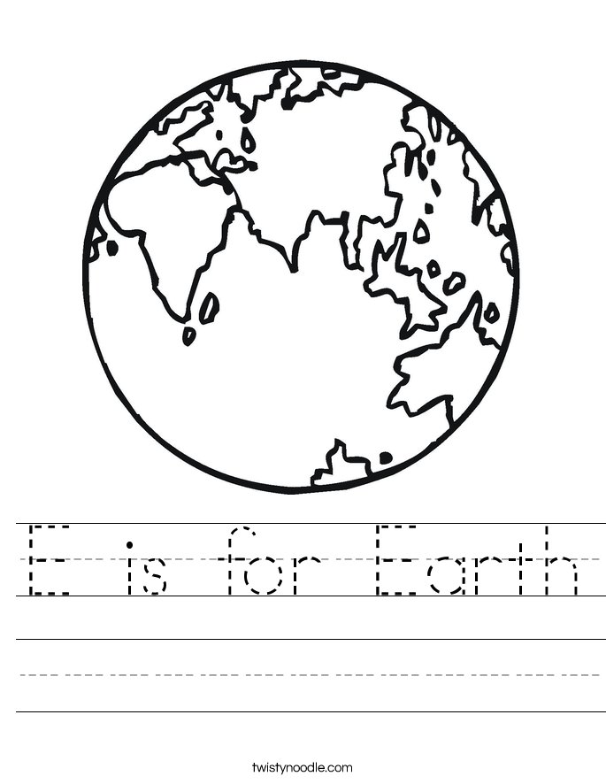 Worksheets Earth Worksheet e is for earth worksheet twisty noodle worksheet