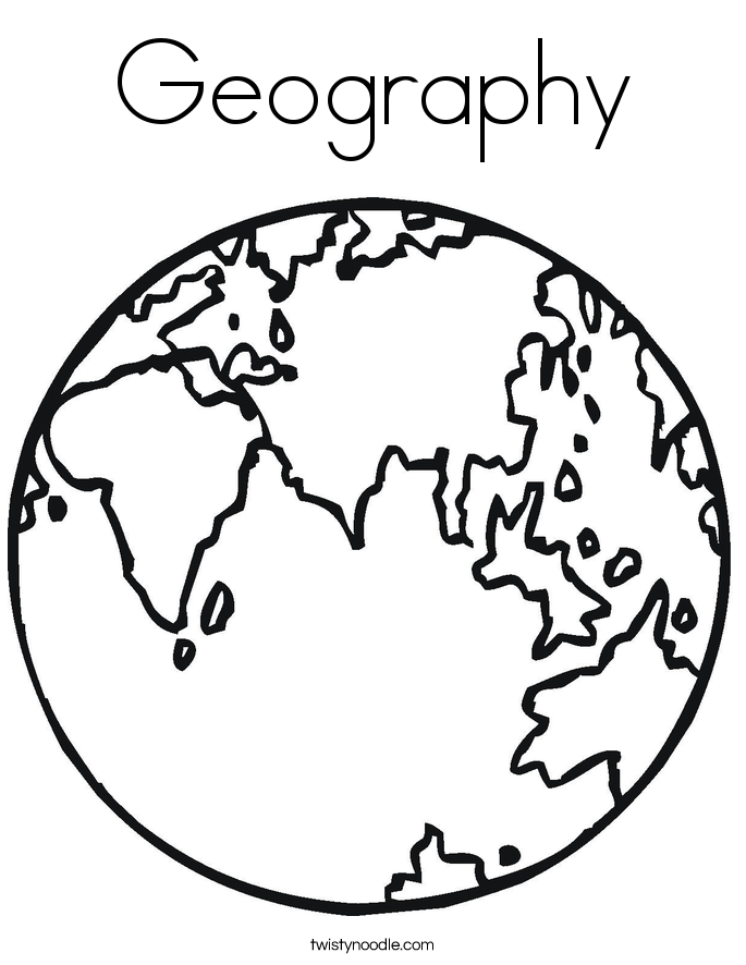 Geography Coloring Page Twisty Noodle
