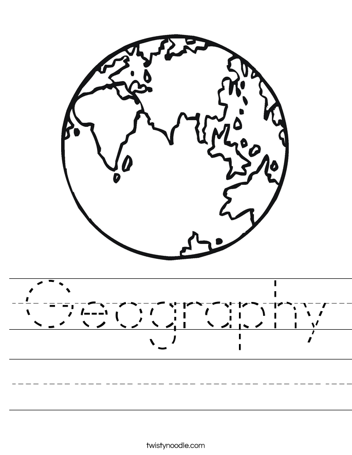 {Geography Worksheets Davezan – Kindergarten Geography Worksheets