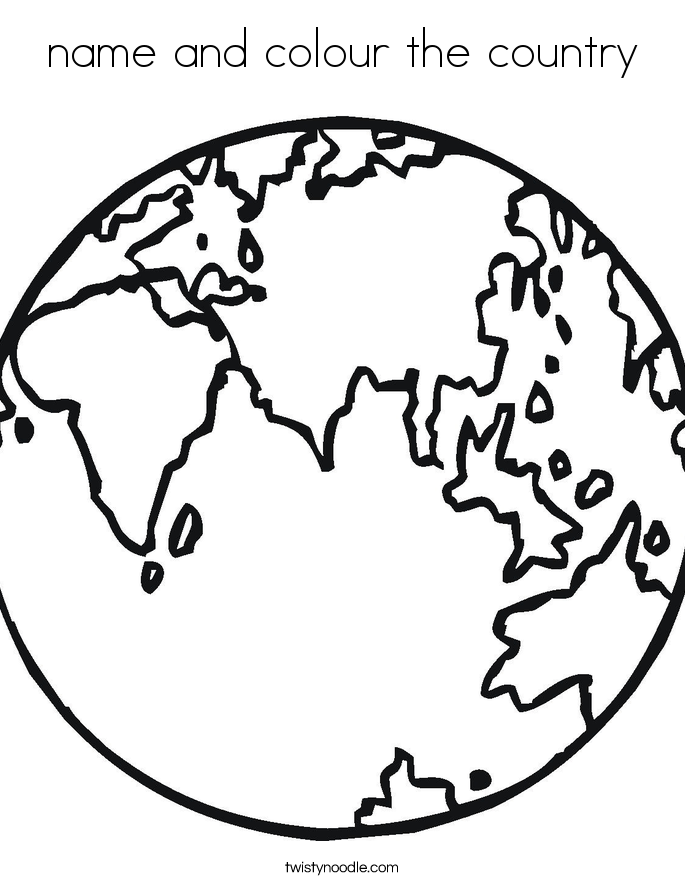 name and colour the country Coloring Page