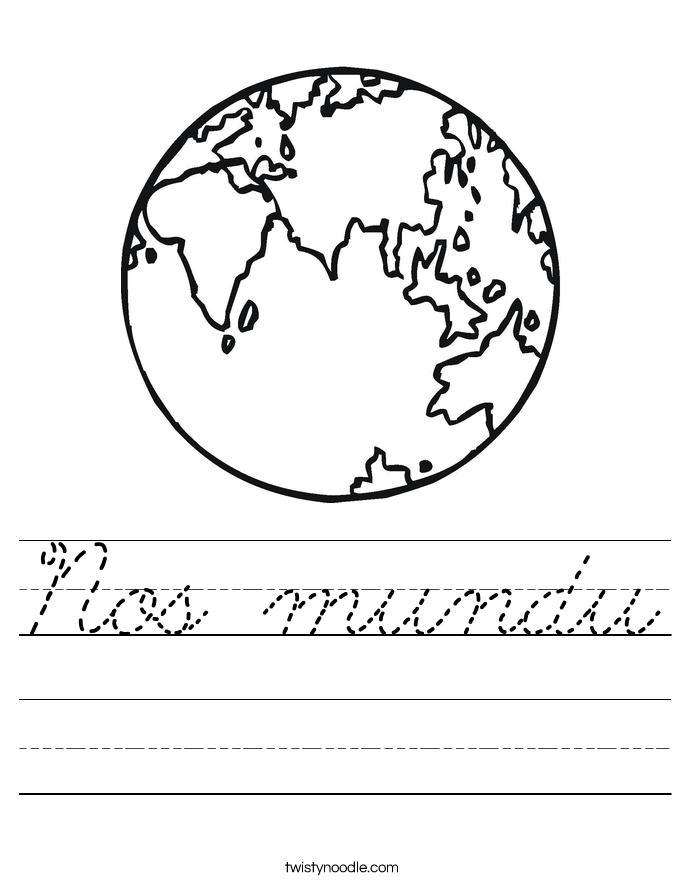 Nos mundu Worksheet
