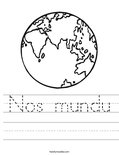 Nos mundu Worksheet
